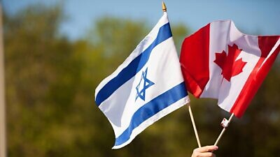 Israeli and Canadian flags. Source: Facebook via B'nai Brith Canada.