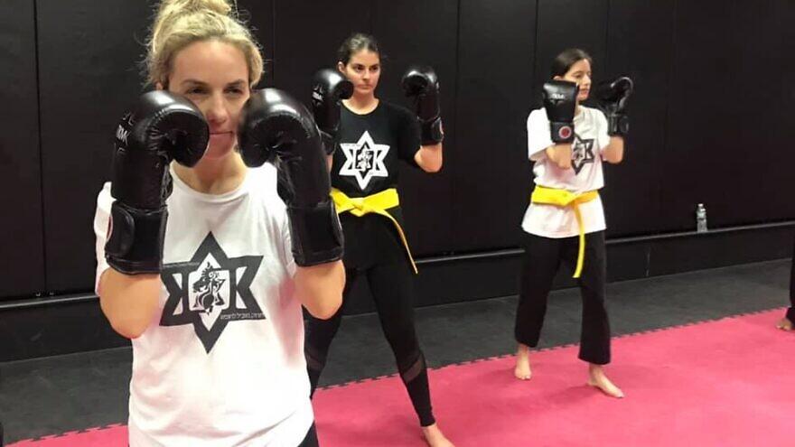 Women participate in a Legion self-defense class. Source: Facebook.