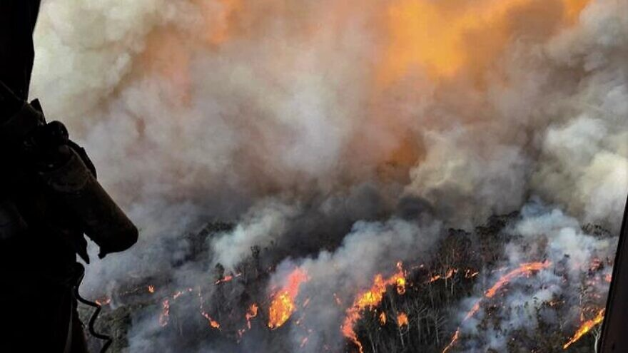 Firefighters have been battling flames throughout Australia more than 130-feet high in some areas. Authorities have called it the country's worst bushfires in history, with the sheer size of the flames far surpassing that of the 2018 California wildfires and 2019 Amazon fires, January 2020 Credit: CPOA Brett Kennedy/Commonwealth of Australia.