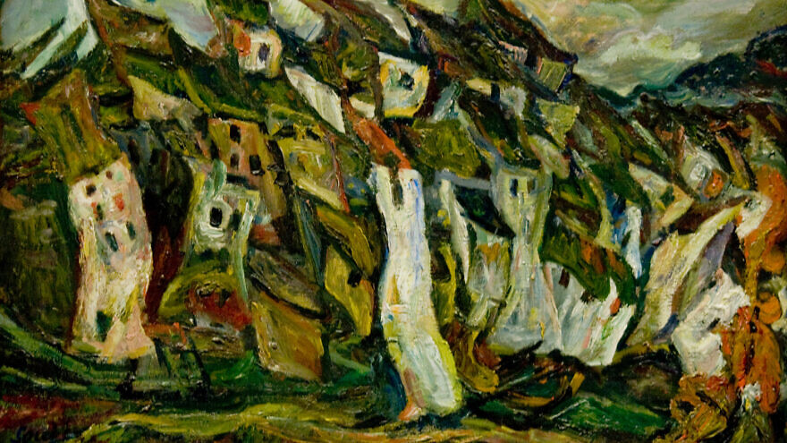 """Les Maisons,"" 1921 by Chaim Soutine. Source: Wikimedia Commons."