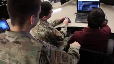"U.S. Cyber Command military personnel participating an a joint cyber defense exercise dubbed ""Cyber Dome"" with the IDF.  Source: IDF Spokesperson's Unit."