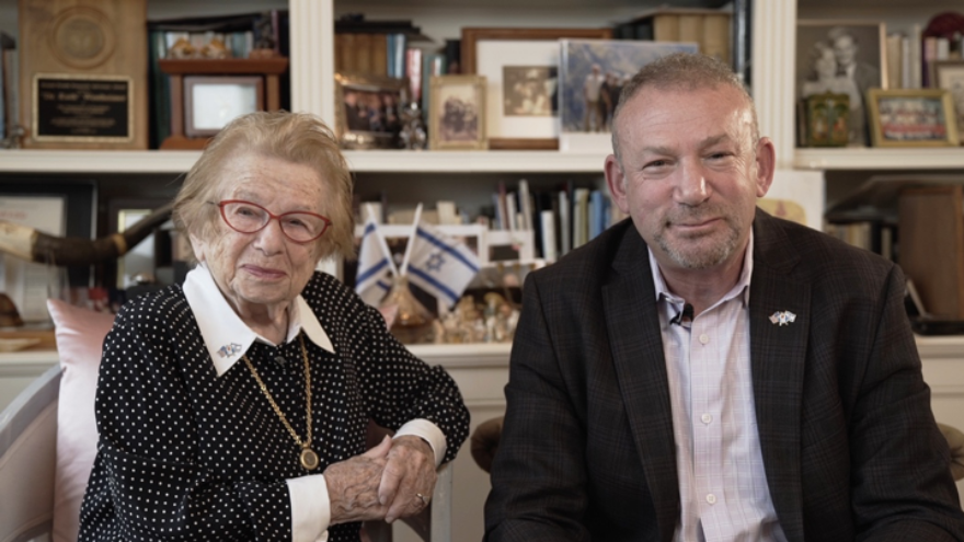 Renowned sex therapist Dr. Ruth Westheimer and Doug Seserman, chief executive officer of American Associates of BGU, announce the Dr. Ruth K. Westheimer Endowed Scholarship for Psychology as she prepares to receive an honorary doctoral degree from BGU on May 19, 2020 in Beersheva. Credit: Ben-Gurion University of the Negev.