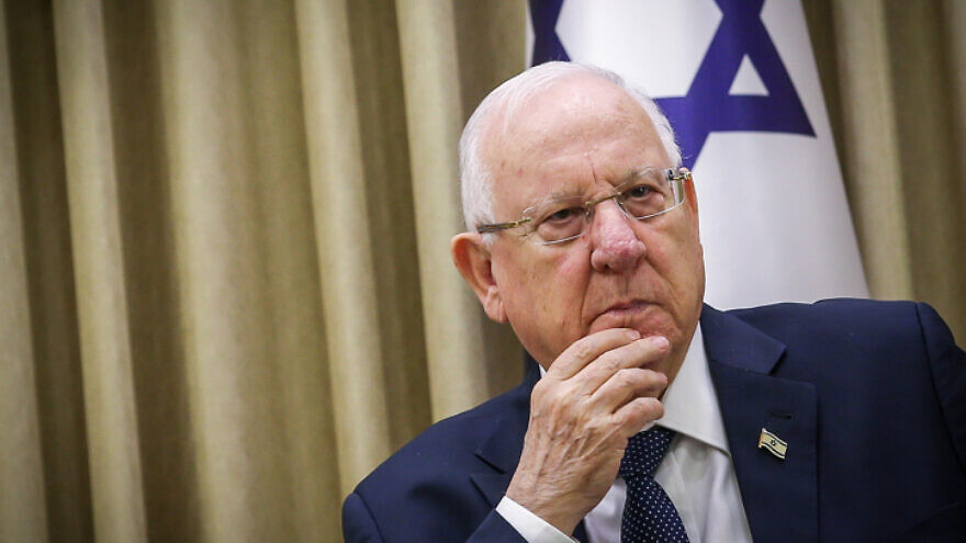 Israeli President Reuven Rivlin in Jerusalem on Jan. 6, 2020. Photo by Flash90.