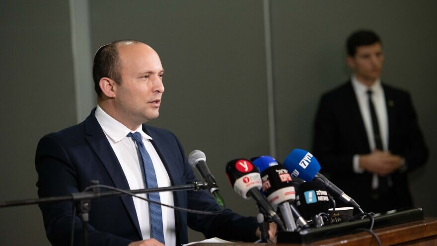 Israeli Defense Minister Naftali Bennett delivers a statement to the media on Jan. 26, 2020. Photo by Sraya Diamant/Flash90.