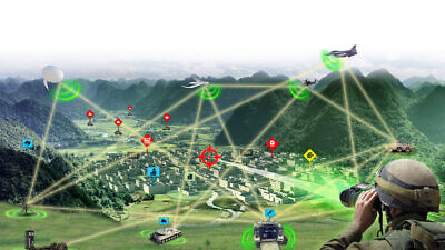 A illustration of Rafael's Fire Weaver, an advanced, augmented-reality system that connects all friendly forces to a single battlefield picture and makes sure that all of them are looking at the exact same targets. Credit: Courtesy.