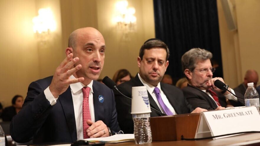 Anti-Defamation League CEO and national president Jonathan Greenblatt (left) testifies before the House Homeland Security Committee on Jan. 15, 2020. Photo courtesy of Jen Liseo/Anti-Defamation League.