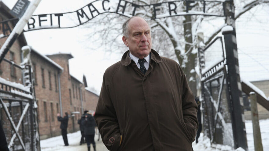 World Jewish Congress president Ronald S. Lauder at Auschwitz concentration and extermination camp for ceremonies marking the 70th year of its liberation by Allied forces, January 2015. Credit: European Jewish Press.