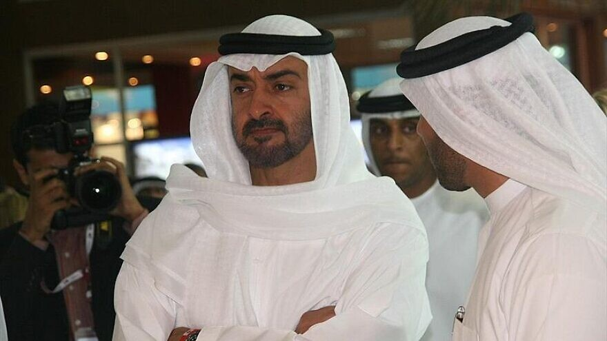 UAE ruler Sheikh Mohammed bin Zayed Al Nahyan at the Cityscape Abu Dhabi 2008 on May 13, 2008. Photo: Imre Solt via Wikimedia Commons.