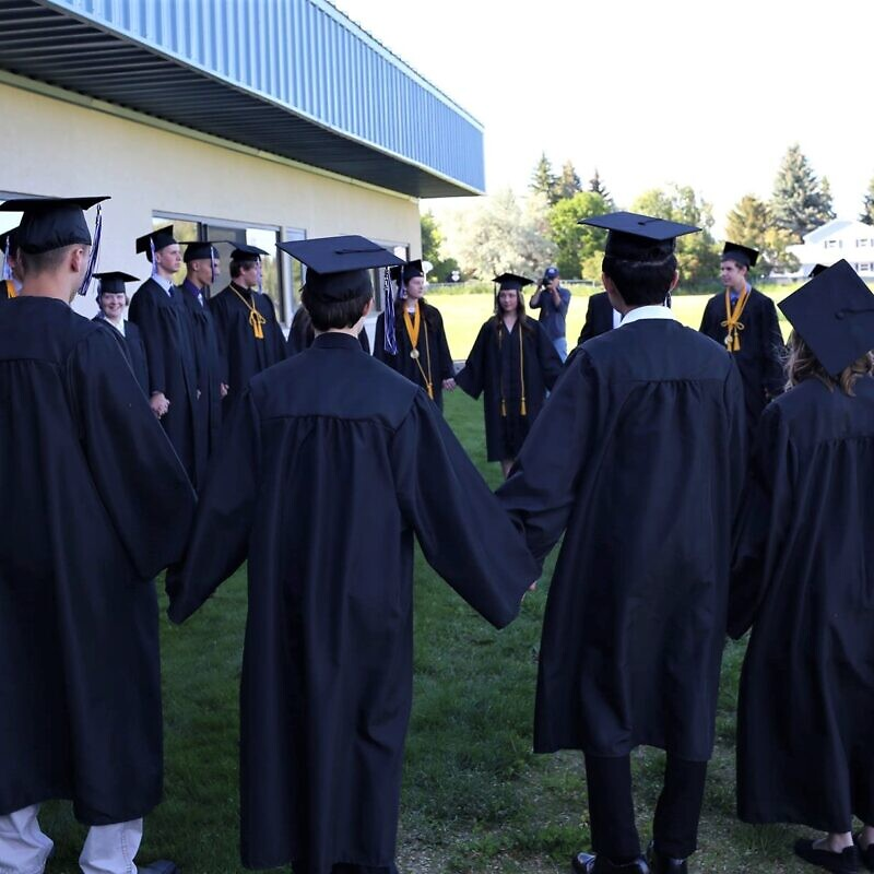 Stillwater Christian School graduates in Kalispell, Mont. Source: Facebook.