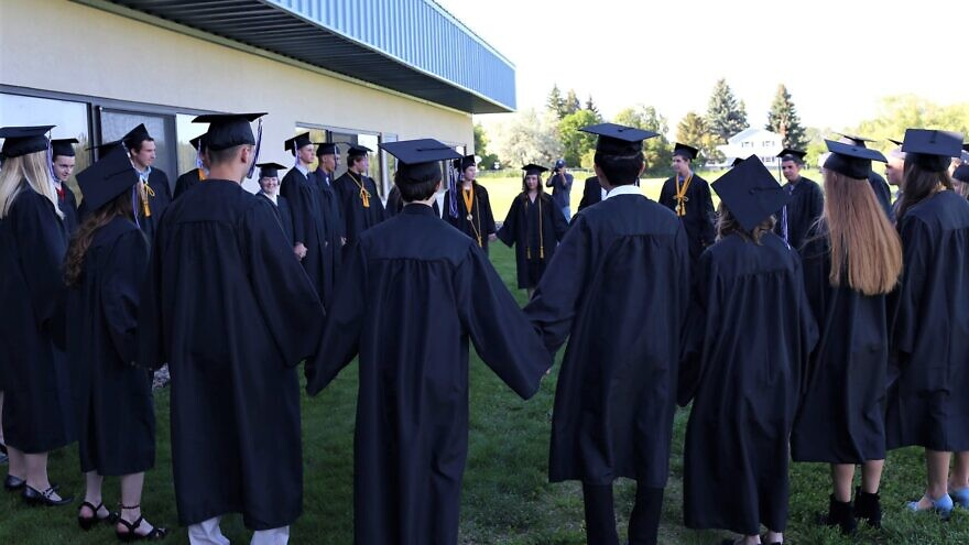 Stillwater Christian School graduates in Kalispell, Mont. Source: Facebook.
