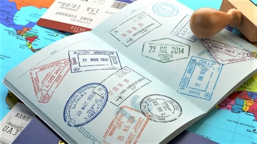 Israeli passport with visa and entry stamps. Credit: Israel.Travel.