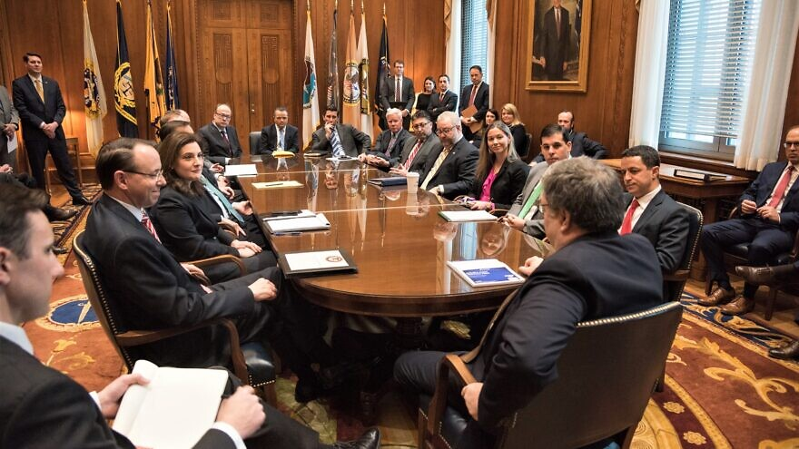 U.S. Attorney General William Barr meets with Justice Department leadership, Feb. 15, 2019. Credit: The United States Department of Justice.