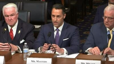 Michael Masters, CEO and national director of the Secure Community Network, the security arms of the Jewish Federation of North America and the Conference of Presidents of Major American Jewish Organizations, in his testimony before the Committee on Homeland Security. Source: Screenshot.