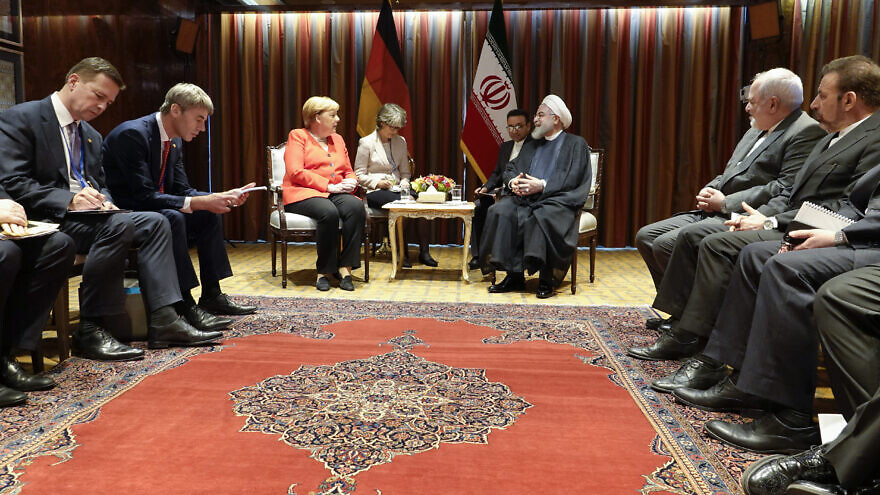 German Chancellor Angela Merkel meeting with Hassan Rouhani at the United Nations on Sept. 24, 2019. Credit: Office of the Iranian President.