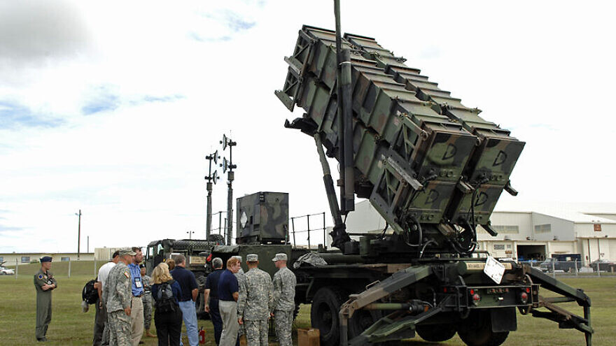 Members of the 74th Joint Civilian Orientation Conference view a Patriot missile air-defense battery on Kadena Air Base, Okinawa, Japan, on Nov. 9, 2007. Credit: U.S. Navy via Wikimedia Commons.