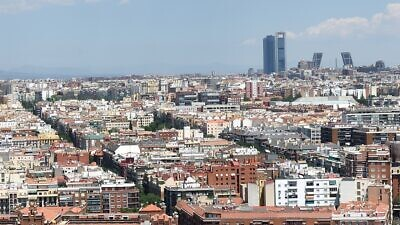 A view of the skyline of Madrid, Spain. Source: Wikimedia Commons.
