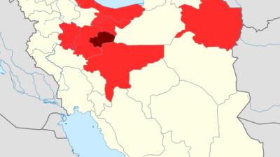 Map of the 2020 coronavirus outbreak in Iran. Source: Wikipedia.