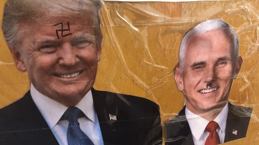 A picture on Jewish student's dorm room door at George Washington University in Washington, D.C.. Source: BDS Report/Twitter.