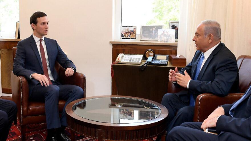 Senior Trump Adviser Jared Kushner meets with Israeli Prime Minister Benjamin Netanyahu at the Prime Minister's Office in Jerusalem on June 22, 2018. Photo by Matty Stern/U.S. Embassy Jerusalem.
