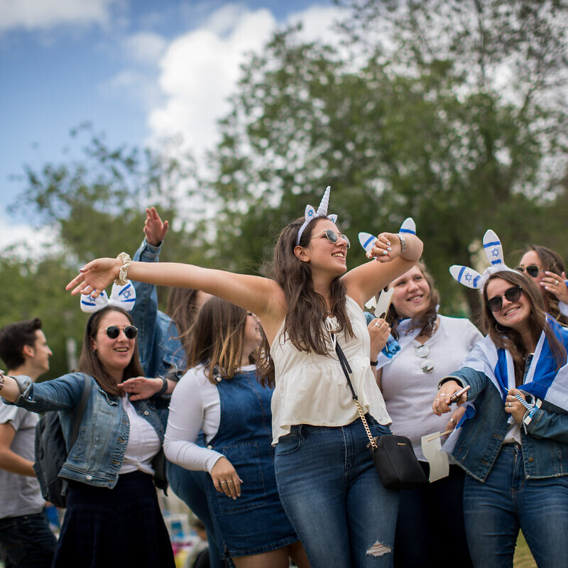 People celebrating Israel's 71st Independence Day in Saker Park in Jerusalem, May 9, 2019. Photo by Yonatan Sindel/Flash90.