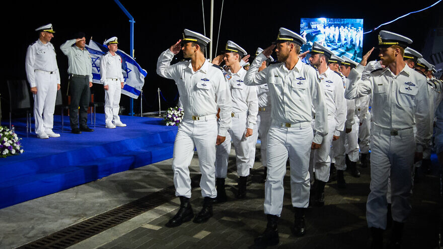 Graduating officers of the Israeli Navy during a ceremony in Haifa Naval Base in northern Israel on Sept. 4, 2019. Photo by Flash90.