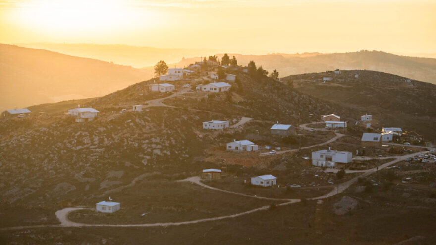 A view of Givat Tkuma near the Israeli settlement of Yitzhar in the West Bank, on Jan. 27, 2020. Photo by Sraya Diamant/Flash90.