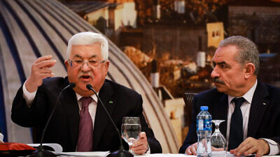 Palestinian Authority leader Mahmoud Abbas delivers a speech on the new Middle East peace plan at P.A. headquarters in Ramallah, Jan. 28, 2020. Photo by Flash90.