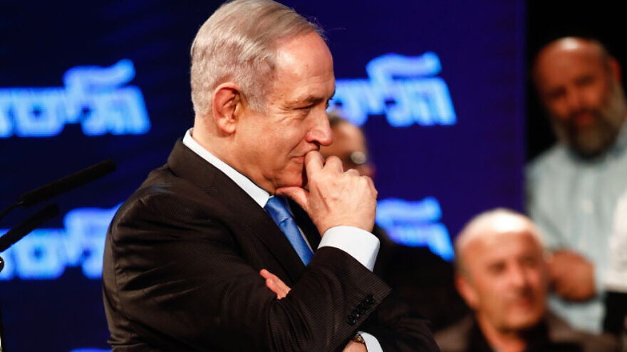 Israeli Prime Minister Benjamin Netanyahu at a Likud Party event in Lod, Israel, on Feb. 11, 2020. Photo by Flash90.