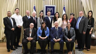 "Participants in the Jerusalem conference ""Keeping It in the Family: Strengthening the Israel-Diaspora Relationship,"" aimed to explore the common bond between Israel and the Diaspora, Feb. 12, 2020. Photo by Mark Neyman/GPO."