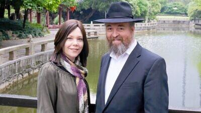 Rabbi Shalom and Dinie Greenberg, Shanghai Jewish Center. Credit: Courtesy.