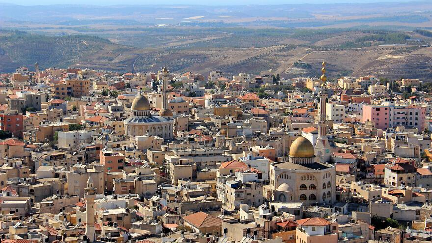 A view of Israel's largest Arab city, Umm al-Fahm. Credit: Wikimedia Commons.