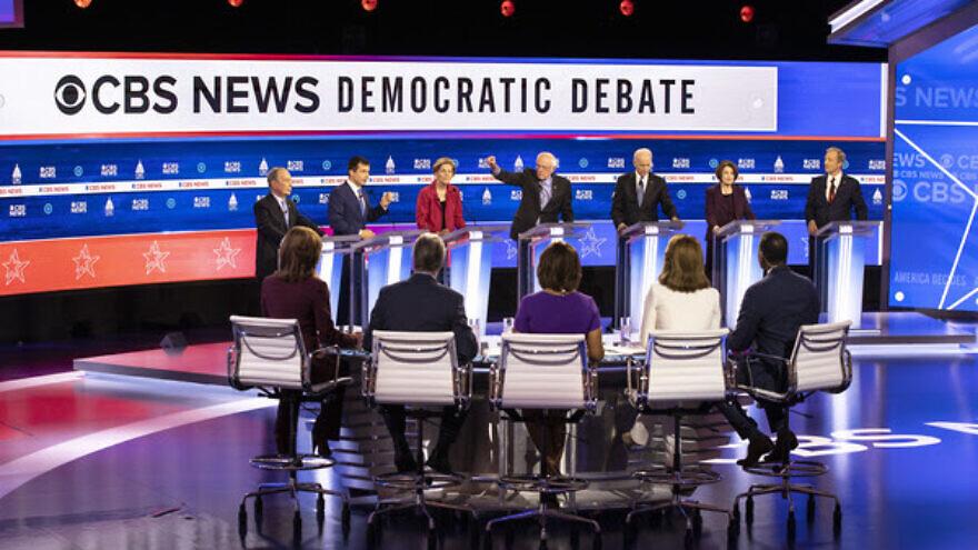 CBS News hosts the 2020 Democratic Debate at the Charleston Gaillard Center in Charleston, S.C., on Feb. 25, 2020. Credit: Evelyn Hockstein/CBS.
