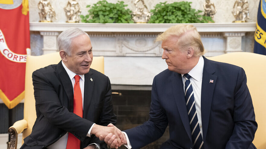 U.S. President Donald Trump and Israeli Prime Minister Benjamin Netanyahu during a bilateral meeting at the White House on Jan. 27, 2020. Official White House Photo by Shealah Craighead.
