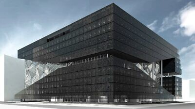 Artist's rendering of the new main office of the German publishing house Axel Springer in Berlin. Source: axelspringer.com.
