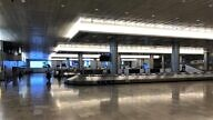 The baggage claim area at Ben-Gurion International Airport, March 2020. Photo by Josh Hasten.