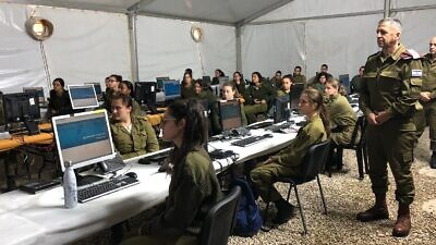 IDF Chief of Staff Lt. Gen. Aviv Kochavi during a meeting with the soldiers of the Home Front Command assisting in the national effort to combat the spread of the coronavirus (COVID-19). Credit: IDF Spokesperson's Unit.