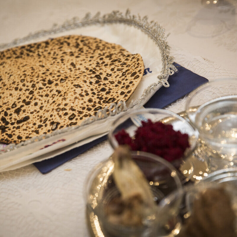 A Passover seder dinner table, on the eve of the Jewish holiday of Passover. Photo by Hadas Parush/Flash90.