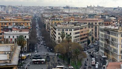 A general view of Rome on Feb 09, 2018.  Photo by Gili Yaari/Flash90.