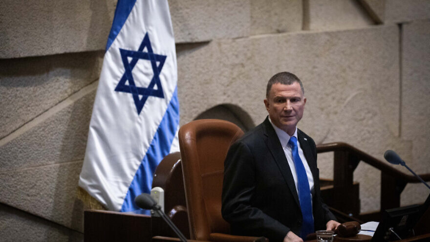 Knesset Speaker Yuli Edelstein during a vote on a bill to dissolve the Israeli parliament in Jerusalem on Dec. 11, 2019. Photo by Hadas Parush/Flash90.