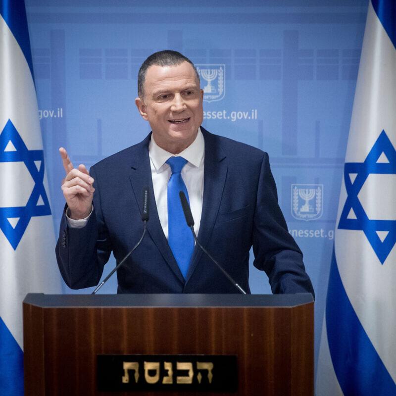 Speaker of the Knesset Yuli Edelstein in the Israeli parliament, in Jerusalem on Jan. 12, 2019. Photo by Yonatan Sindel/Flash90.