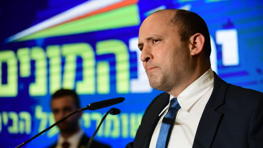 Former Israeli Defense Minister Naftali Bennett attends the launch of the Yamina Party campaign, on Feb. 12, 2020. Photo by Tomer Neuberg/Flash90.