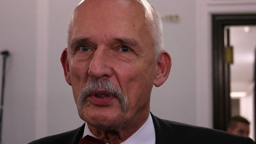 Polish lawmaker Janusz Korwin-Mikke. Credit: Wikimedia Commons.