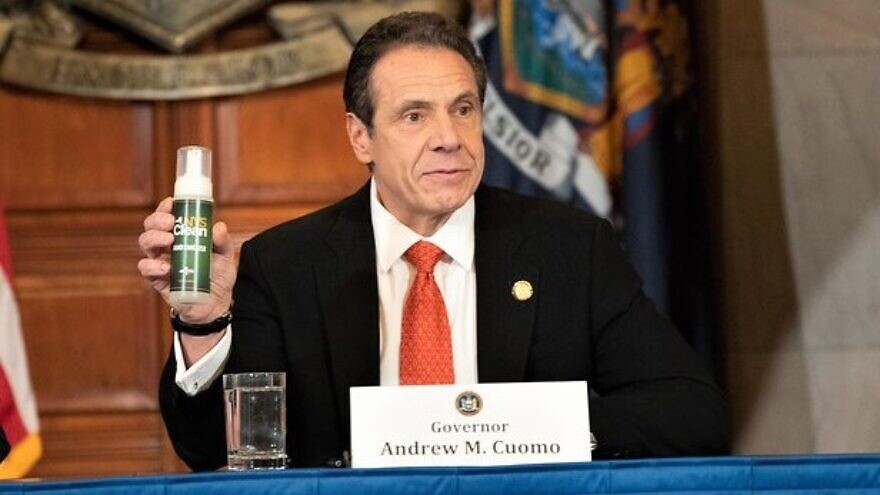 New York Gov. Andrew Cuomo said the state will produce up to 100,000 gallons of hand sanitizer per week, distributing it to the most impacted and high-risk communities, in addition to state agencies, March 11, 2020. Source: governor.newyork.gov.