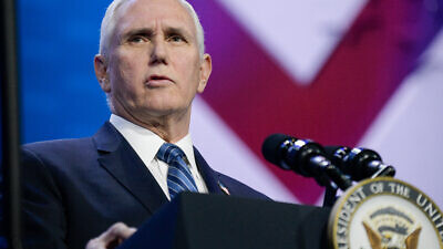 U.S. Vice President Mike Pence addressing the 2020 AIPAC Policy Conference in Washington, D.C., March 2, 2020. Credit: AIPAC.