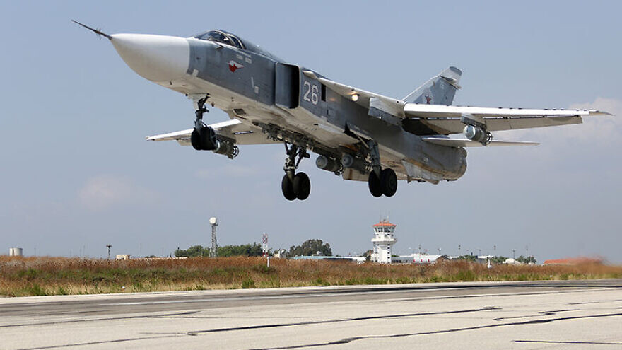 A Russian Air Force Sukhoi Su-24 at the Latakia Air Base in Syria, on Oct. 3, 2015. Credit: Wikimedia Commons.