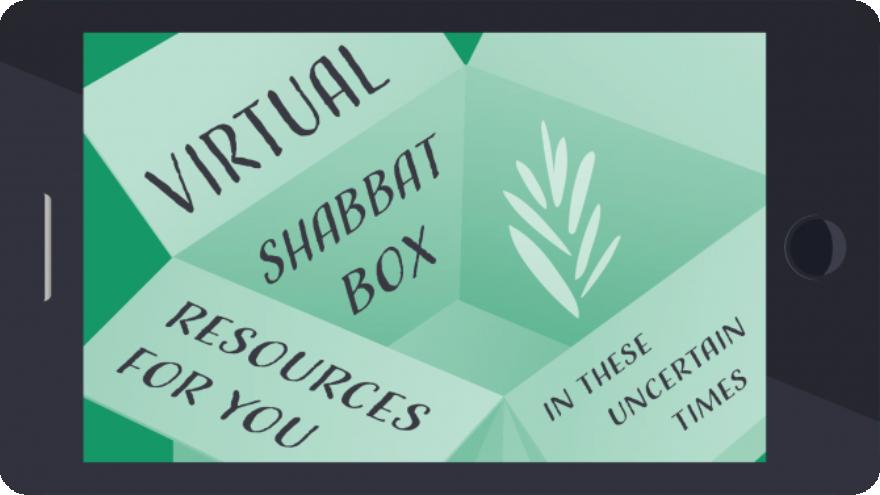 Virtual Shabbat Box provided by Reconstructing Judaism. Credit: Courtesy.