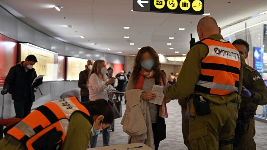 Israel Defense Forces' personnel have taken over the handling of international arrivals at Ben-Gurion International Airport. Credit: Israel Ministry of Defense.