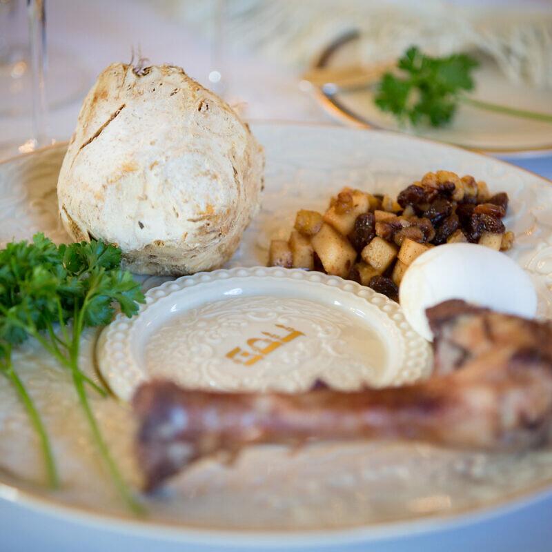 A Passover seder plate. Credit: Gov. Tom Wolf via Flickr.