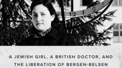 """Partial cover of """"All the Horrors of War: A Jewish Girl, British Doctor, and the Liberation of Bergen-Belsen"""" by Bernice Lerner."""