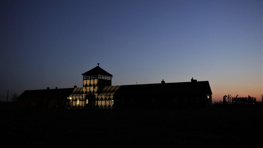 Auschwitz-Birkenau Museum devoid of those participating in the annual March of the Living to mark Yom Hashoah, April 20-21, 2020. Credit: Marcin Kozlowski, March of the Living.